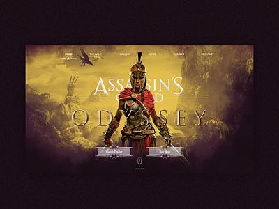Assassin's Creed Odyssey - Landing Page illustration web design branding website web uidesign ux ui design