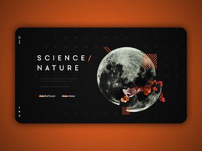 Science/Nature - Landing Page illustration space dark ui branding website web uidesign ux ui design