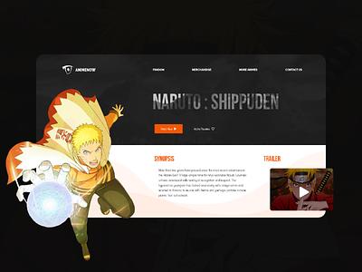 Naruto : Shippuden - Landing Page branding darkui website webdesign web ux ui