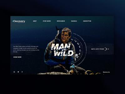 Man Vs. Wild - Landing Page website webdesign web ux ui