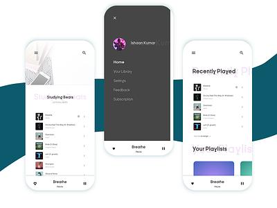 Music Player mobile app design ux ui
