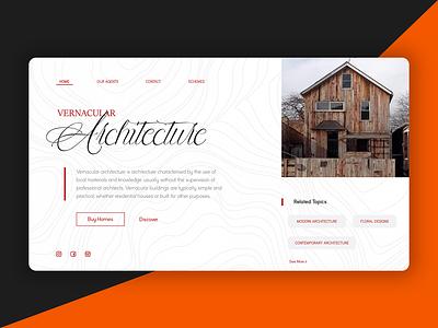Architecture Webpage branding uidesign website web design ux ui