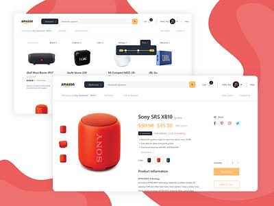 Amazon [Redesign] branding website web uidesign design ux ui