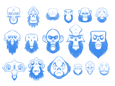 Zombie, pseudo-logo, self-portrait-thingamabobs doodle selfportrait zombie blue bearded bald frenden