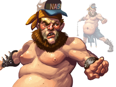 Wrestling character concept