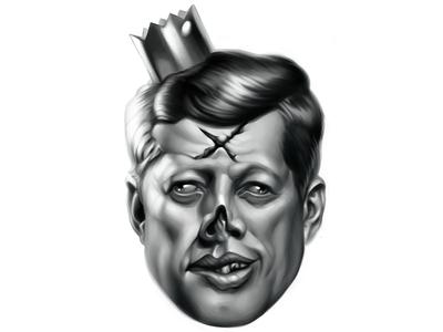 Dead Kennedy jfk kennedy portrait painting zombie art illustration