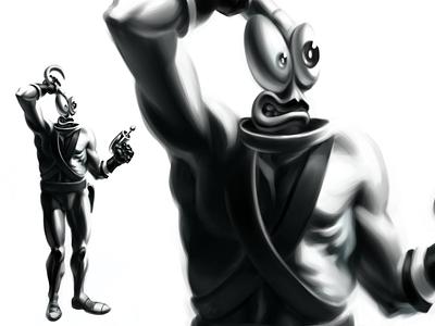 Earthworm Jim Painting earthworm jim painting digital art illustration game mascot