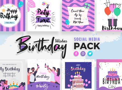 Happy Birthday Social Media Template
