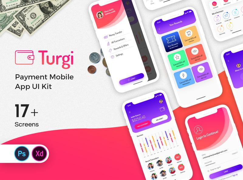 Turgi Payment Mobile App UI Kit