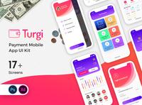 Turgi Payment Mobile App UI Kit corporate turgi