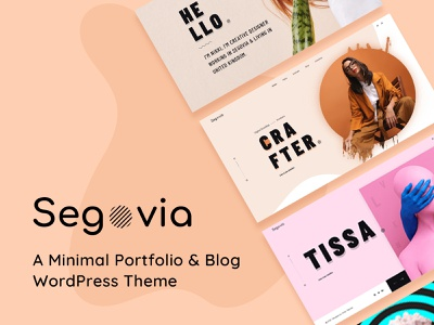 Segovia – A Minimal Portfolio And Blog WordPress Theme wordpress studio showcase portfolio personal modern minimal gallery freelancer design creative clean business blog agency