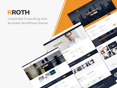 Kroth – Business/Consulting WordPress Theme trading trader professional multipurpose modern insurance financial finance creative corporate consulting consultancy company business advisor