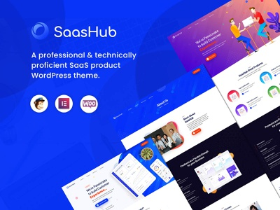 SaaSHub – Digital Product WordPress Theme technology startup software showcase saas marketing landing digital creative clean business application app agency affiliate