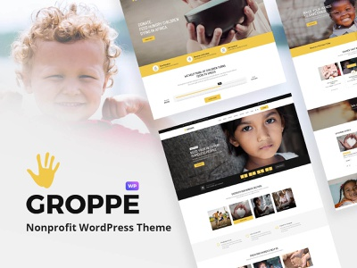 Groppe - Nonprofit WordPress Theme volunteer sponsor non profit ngo give fundraising events calendar donations donate cause