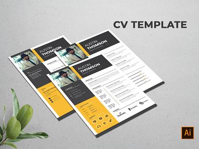 Creative CV Template minimal illustration vitae template