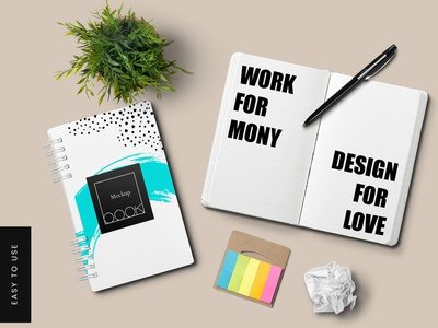 Note Book Mockups website psd presentation graphic branding