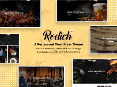 Rodich – A Restaurant WordPress Theme restaurant portfolio one page menu dining diner cooking chief