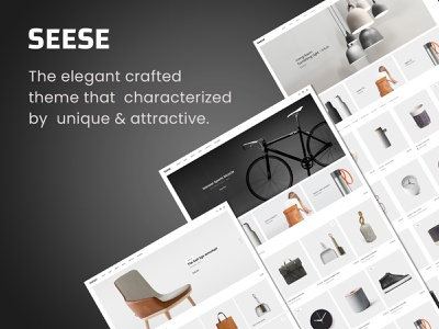 Seese – Responsive eCommerce Theme woocommerce watches portfolio page builder minimalist mega menu furniture filters ajax