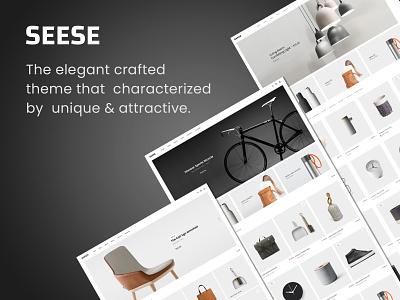 Seese – Responsive eCommerce Theme woocommerce watches portfolio page builder minimalist mega menu furniture filters ajax