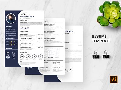 Resume Template vitae template graphic