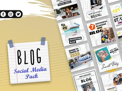 Blogging Social Media Template blog