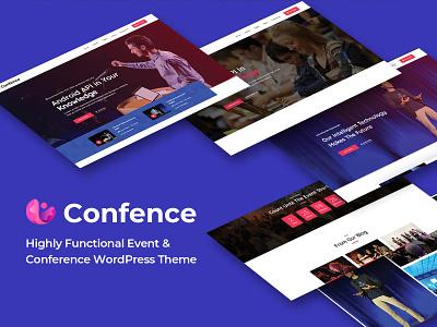 Confence - Event & Conference Elementor Template Kit workshop