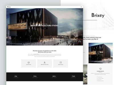 Brixey – Responsive Architecture WordPress Theme portfolio multipurpose interior design gallery engineering creative corporate construction business building company builder architecture
