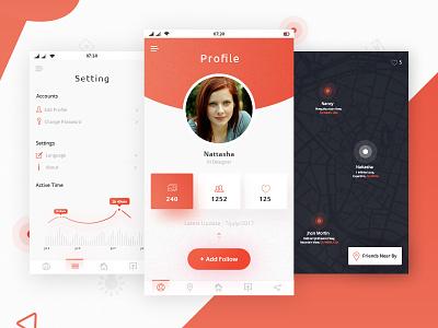 Freebies - Profile Settings Dashboard free download freebies app design ui design mobile app profile settings dashboard