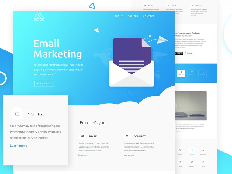 freebies email newsletter template by victorthemes dribbble