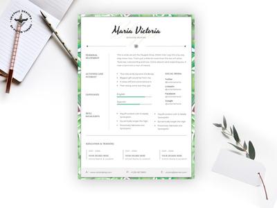 Blogger CV Template