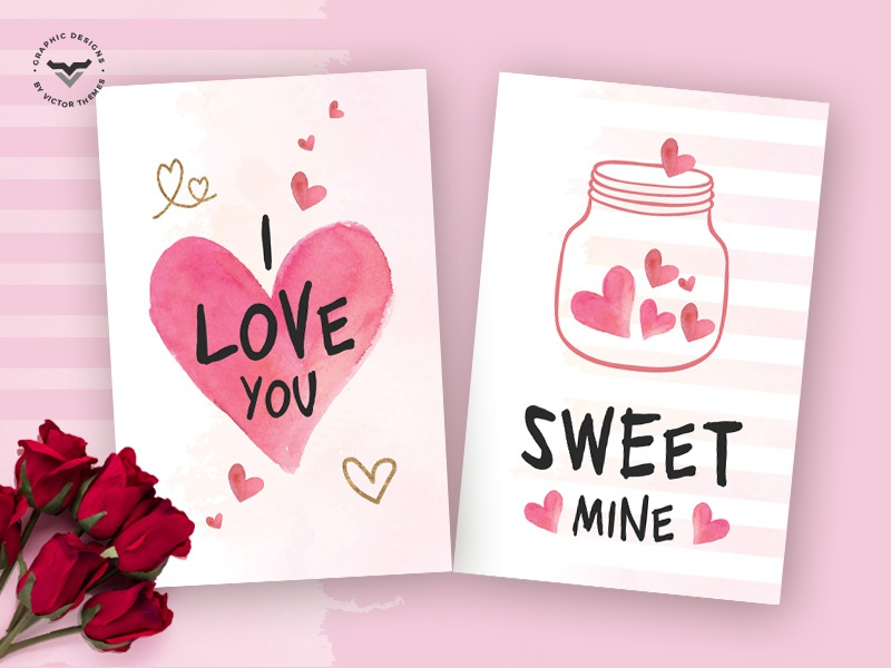Greeting Card Templates | Valentines Day Greeting Card Template By Victorthemes Dribbble