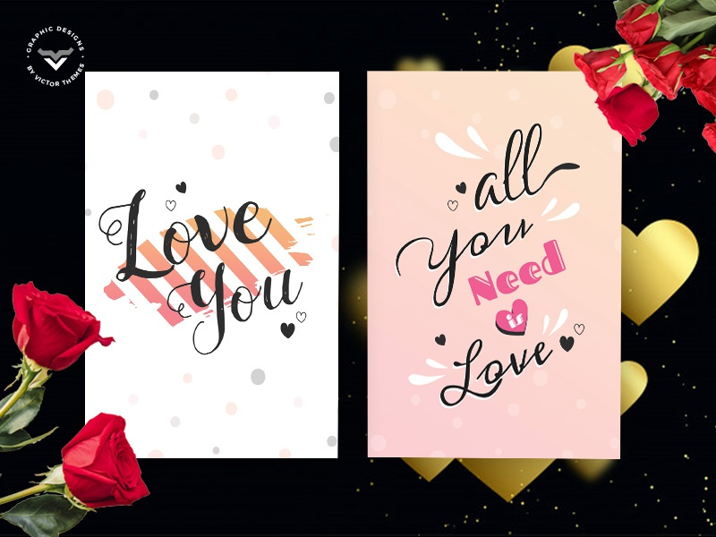 Valentines Day Greeting Card Template love minimal rose wish creative templates print lovers present wishes celebrations template card greeting day valentines