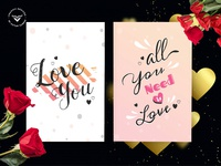 Valentines Day Greeting Card Template