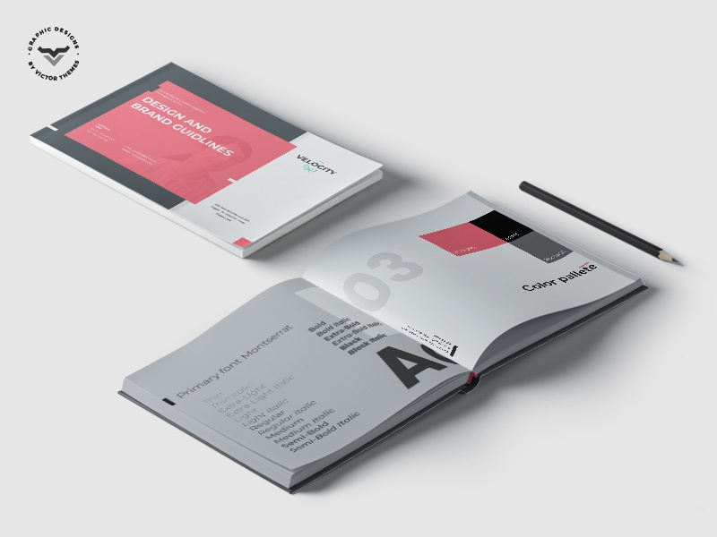 Velocity - Brand Guideline Template guideline brouchure template print company book creative business corporate branding manual line guide brand velocity