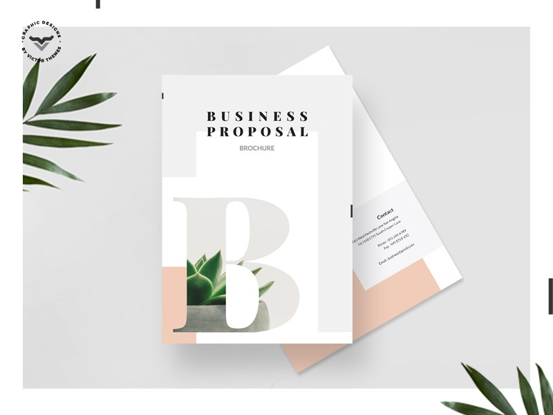 Business Proposal Template creative minimal clean identity templates print corporate template presentation brochure proposal business
