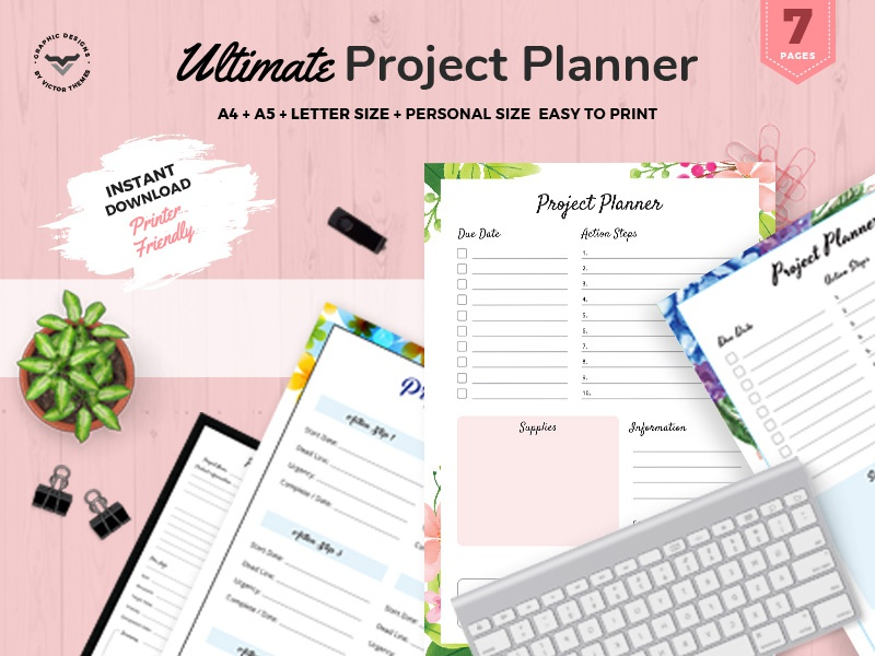 Ultimate Project Planner product list task brainstrom time development management use personal business kit planners planner project ultimate