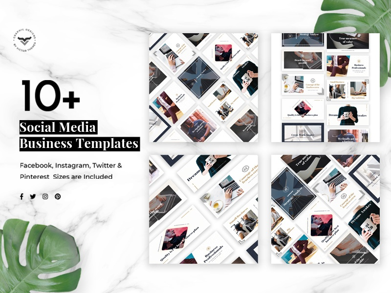 Social Media Business Templates business professional celebration creative pinterest instagram twitter facebook wishes promotions banner post banners media social