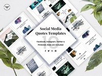 Social Media Quotes Trendy Templates