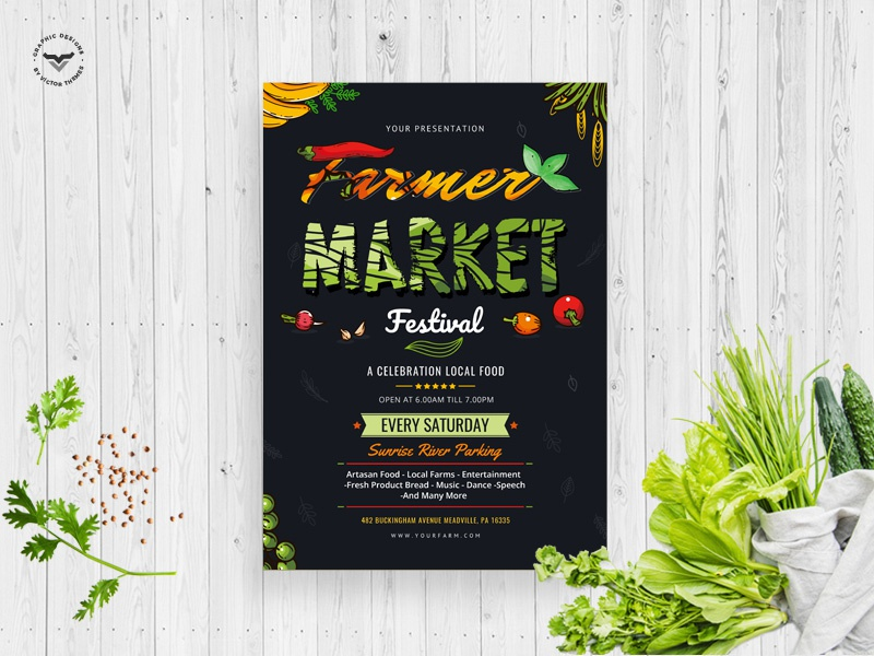 Organic Market Farmers Flyer template stationary promotions a4 creative templates print flyers organic activities promotion flyer market farmers