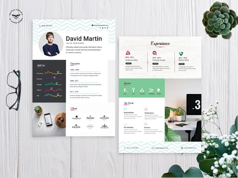 UI/UX Designer CV Template job resumes infographic vitae curriculam print resume business professional professionals creative template cv designer graphic