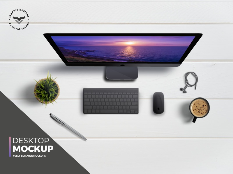 Desktop Topview Mockups by VictorThemes on Dribbble
