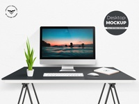 Desktop Mockups with Table