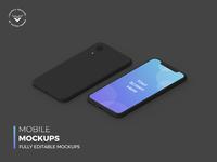 Mobile Dark Mockups