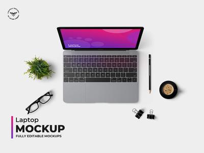 Laptop Topview Mockups