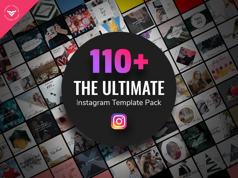 Ultimate Instagram Post Templates magazine blog shop fashion business banners banner kit promotion promotions pack templates post instagram ultimate
