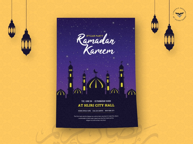 Ramadan Flyer Template print promotions promotion party iftar templates wishes happy ramzan celebration celebrations day template flyer ramadan