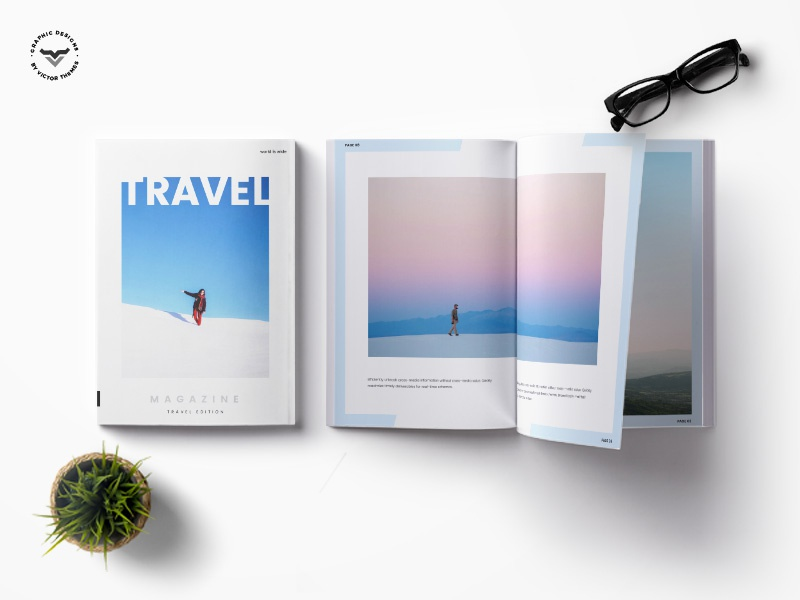 Travel Magazine editor place tourist lodge hotel places tour transport magazines a4 print templates template magazine travel
