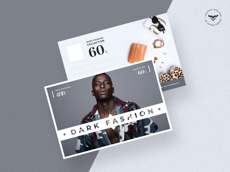 Fashion Post Card Template business minimal clean ecommerce print templates celebrations celebration promotion promotions shop template card post fashion
