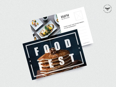 Restaurant Post Card Template