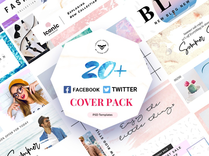 Facebook & Twitter Cover Template banners banner promotions promotion website media social templates template cover twitter facebook